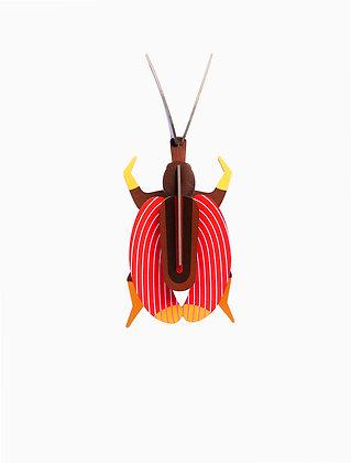 Insecte 3D à construire - Coléoptère rouge