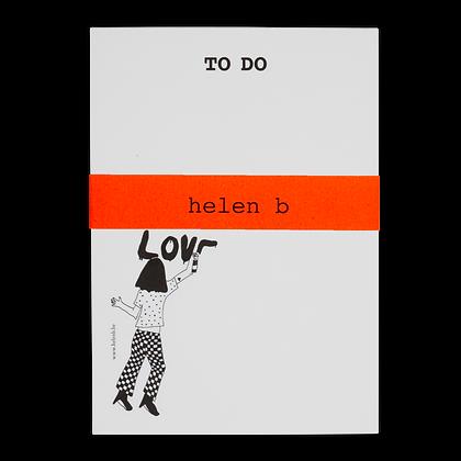 Helen B - Bloc note Love
