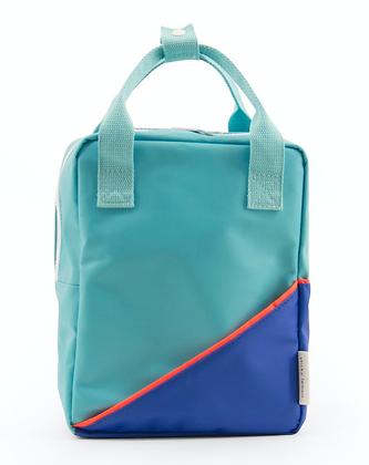 STICKY LEMON - Sac à dos retro bleu