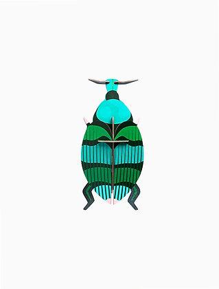 Insecte 3D à construire - Coléoptère vert