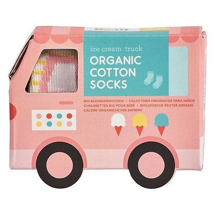 Chaussette pour bébé - Camion rose