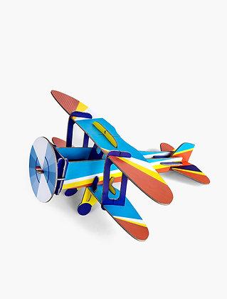 Avion 3D à construire - Biplane