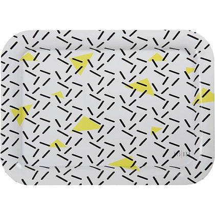 Grand plateau - Blanc, noir et jaune