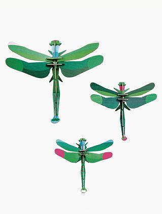 Insecte 3D à construire - Lot de trois libellules