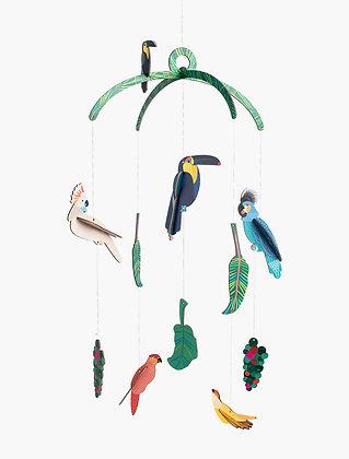 Mobile 3D à construire - Oiseau exotique