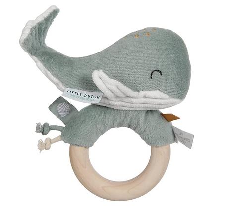 Hochet baleine mint