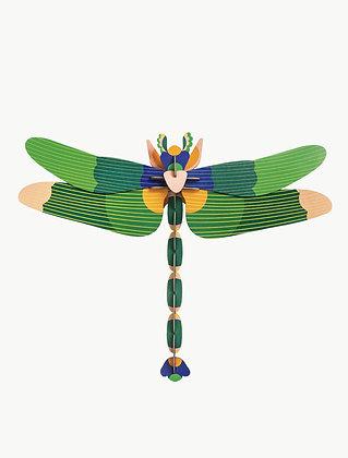Insecte 3D à construire - Libellule géante verte