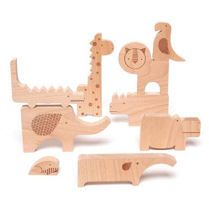 Puzzle animaux en bois