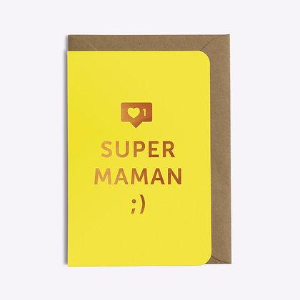 ÉDITIONS DU PAON - Carte postale Super maman