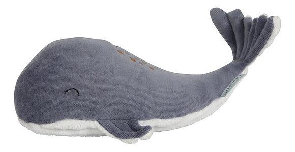 Petite peluche baleine bleue