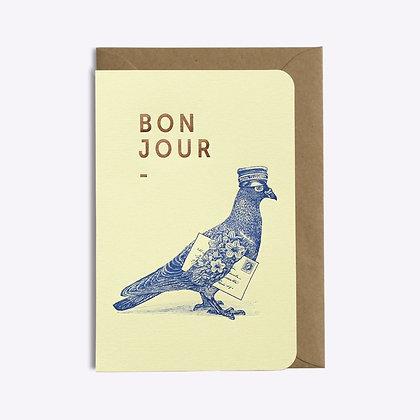 ÉDITIONS DU PAON - Carte postale Bonjour