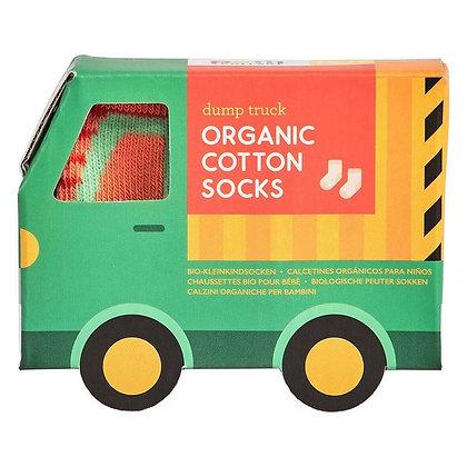 Chaussette pour bébé - Camion vert