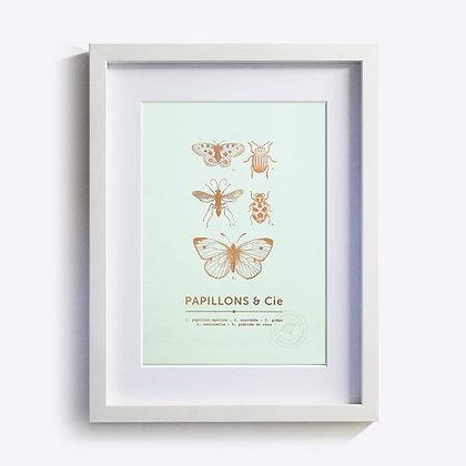 ÉDITIONS DU PAON - Affiche Papillons & cie