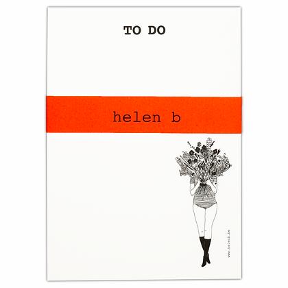 Helen B - Bloc note femme aux fleurs