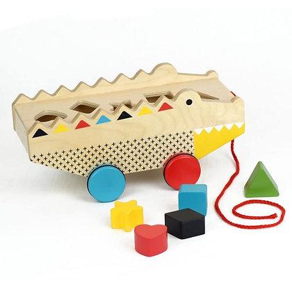 Boîte à forme en bois - Alligator