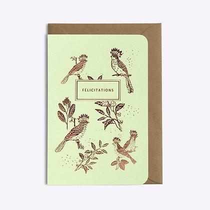 ÉDITIONS DU PAON - Carte postale Félicitations