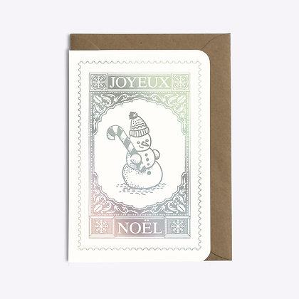 ÉDITIONS DU PAON - Carte postale Bonhomme de neige