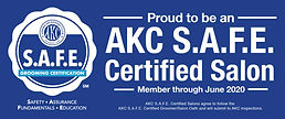 """Picture of """"AKC S.A.F.E."""" certification"""