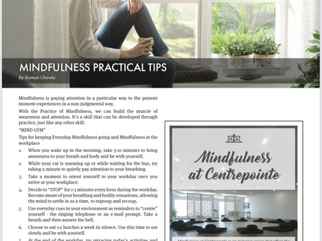 Mindfulness Practical Tips by Dr Raman Chawla