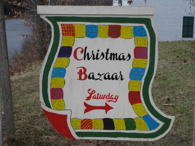 christmas bazaar sign