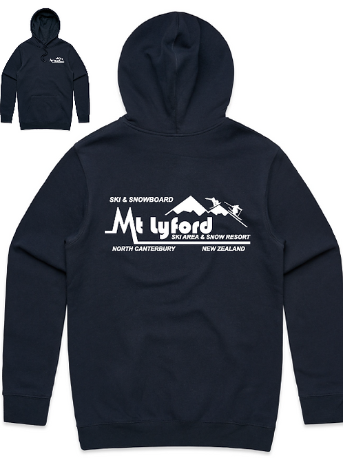 Men's Mt Lyford Navy Blue Hoodie.