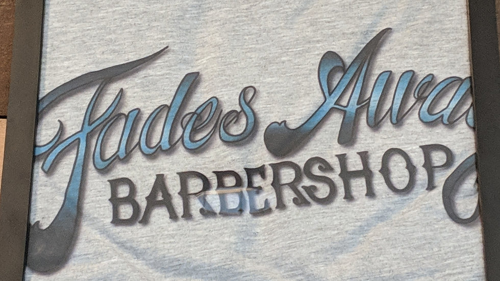 Fades Away Barbershop Grey T-Shirt