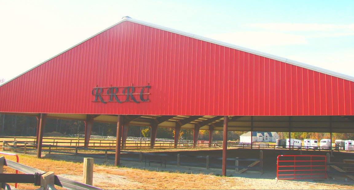 Well lit, covered riding arena