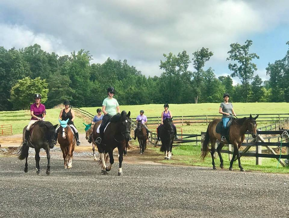 Trail riding around the farm
