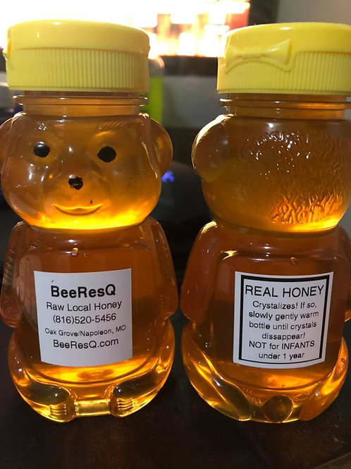 1/2 POUND PLASTIC BEAR BOTTLE - Raw, Local, Honey