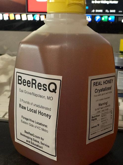 THREE POUND PLASTIC SQUEEZE BOTTLE - Raw, Local, Honey