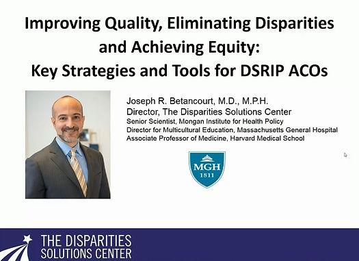 Improving Quality, Eliminating Dispariti