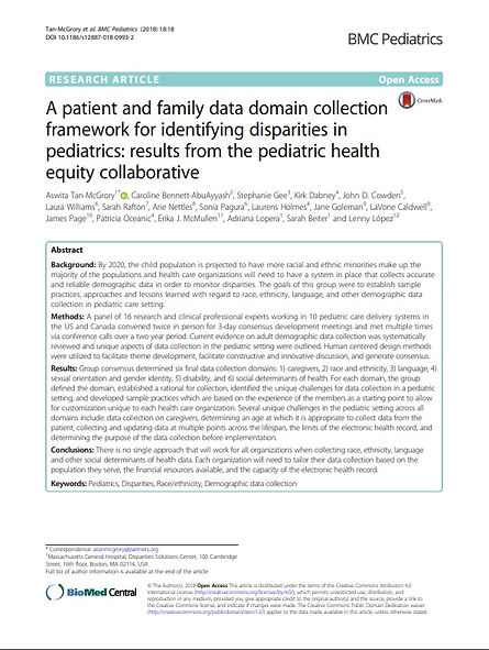 A patient and family data domain collect