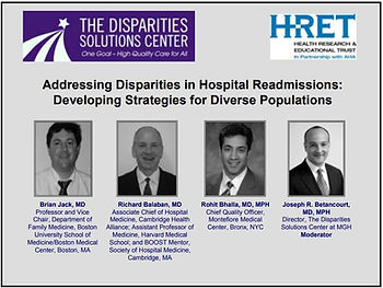 Addressing Disparities in Hospital Readm