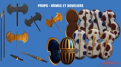 Props : Armes et Boucliers