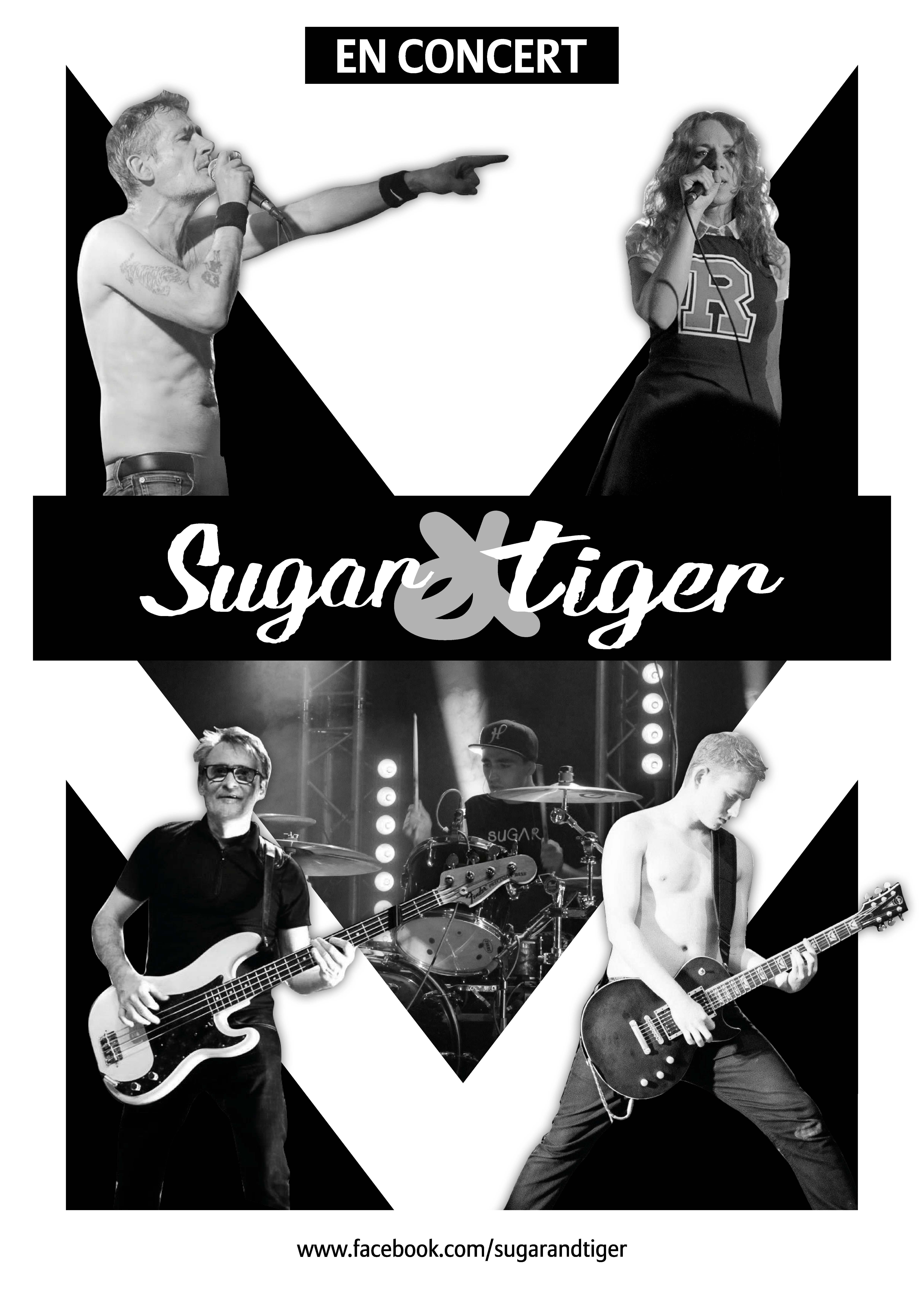 Sugar&Tiger Affiche En Concert Edwing Wo