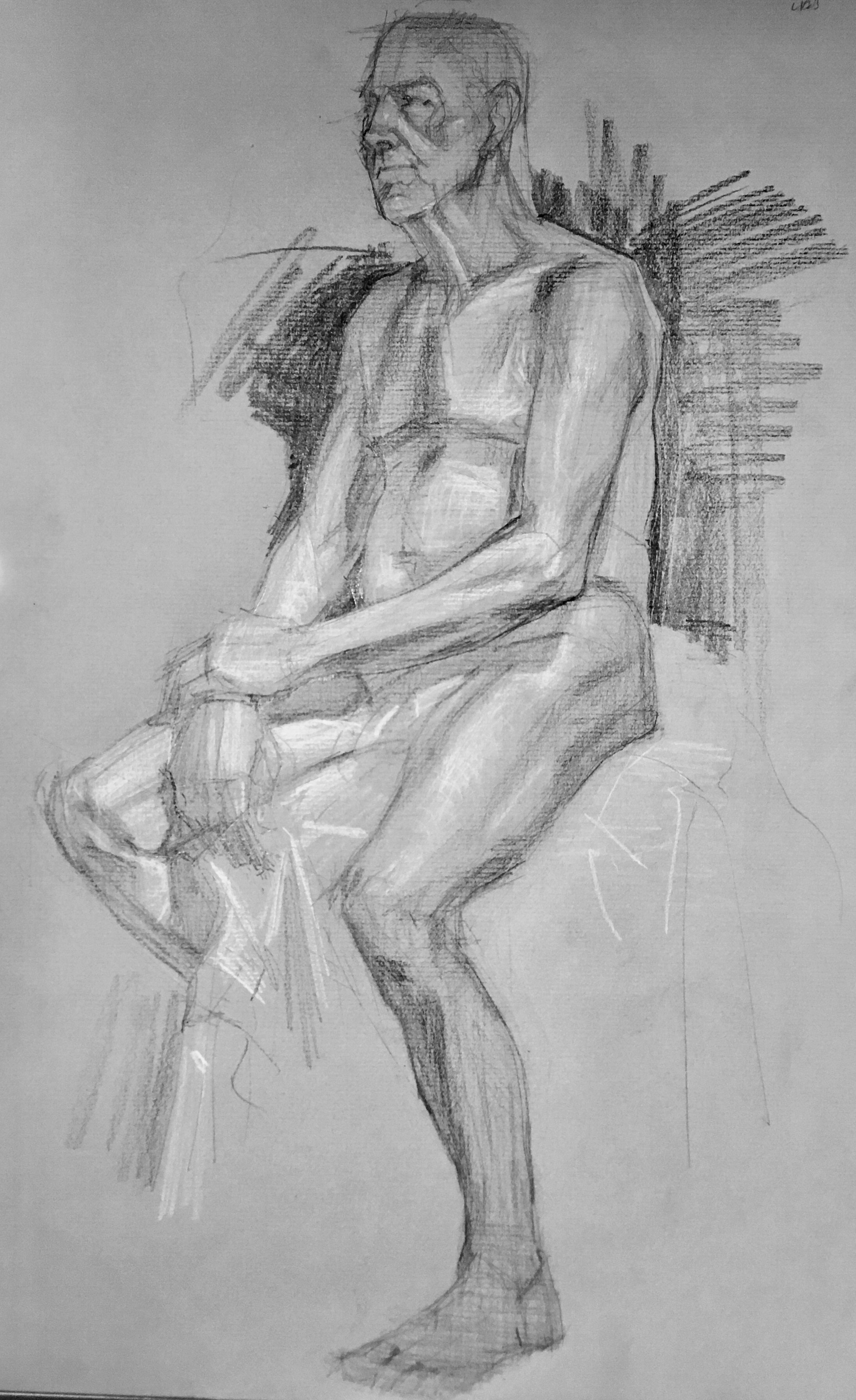 Seated Male Study