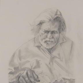 Portrait of Steve Russell by Jeffrey McDaniel