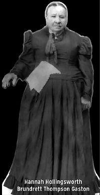 Mary Hannah Hollingsworth Brundrett Thompson Gaston biography
