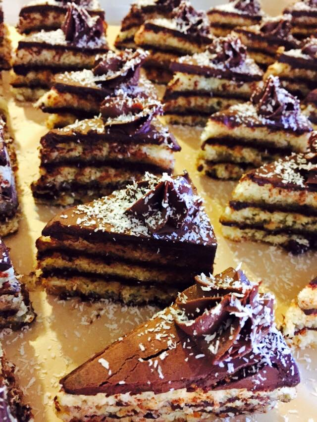 Triple Layer Macaroon Cake
