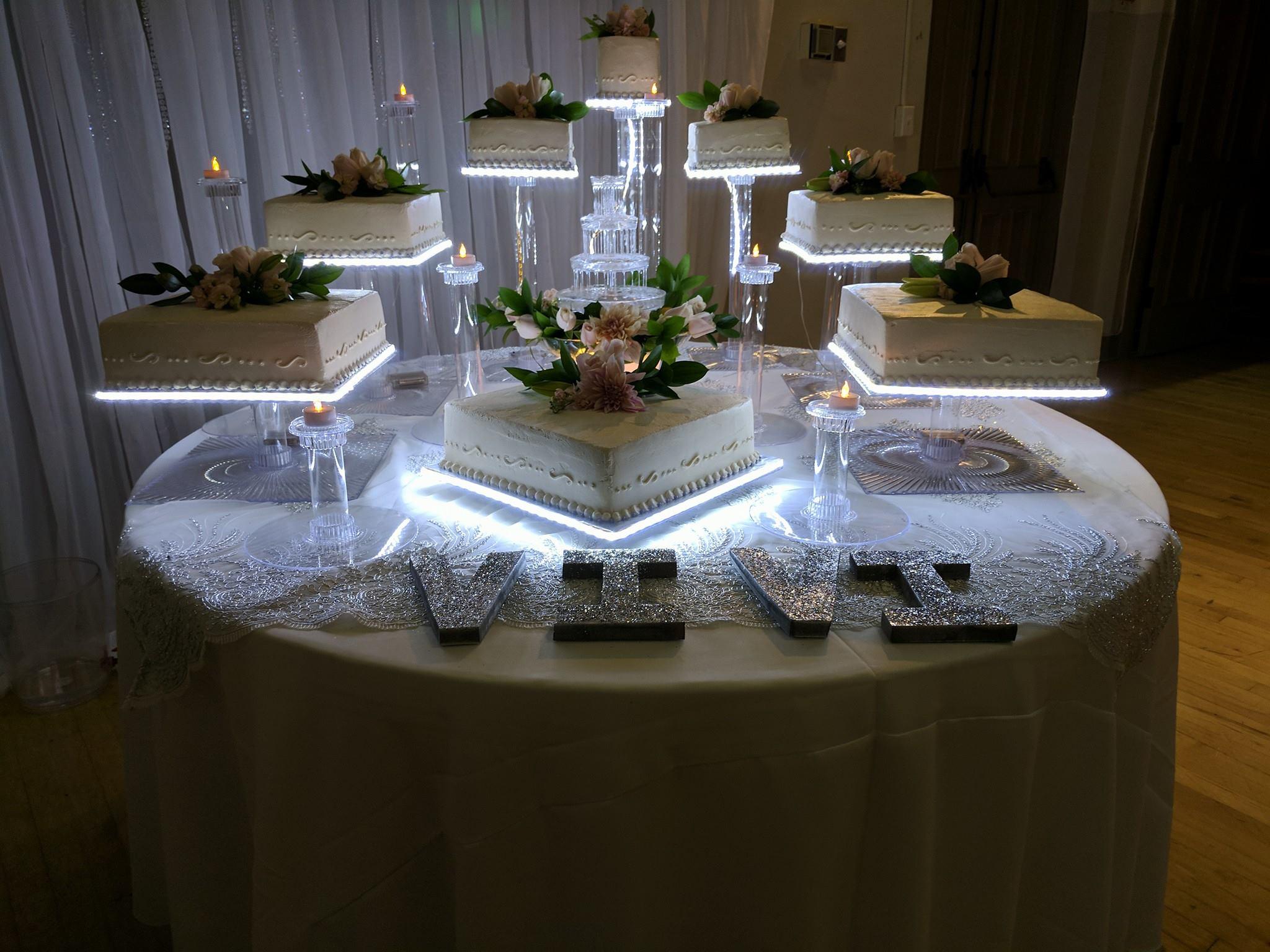 Lighted Cake Bases
