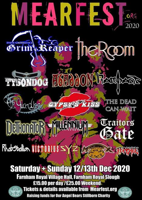 MEARFEST 12th & 13th December 2020 Farnham Royal Village Hall SL2 3AX Slough, UK