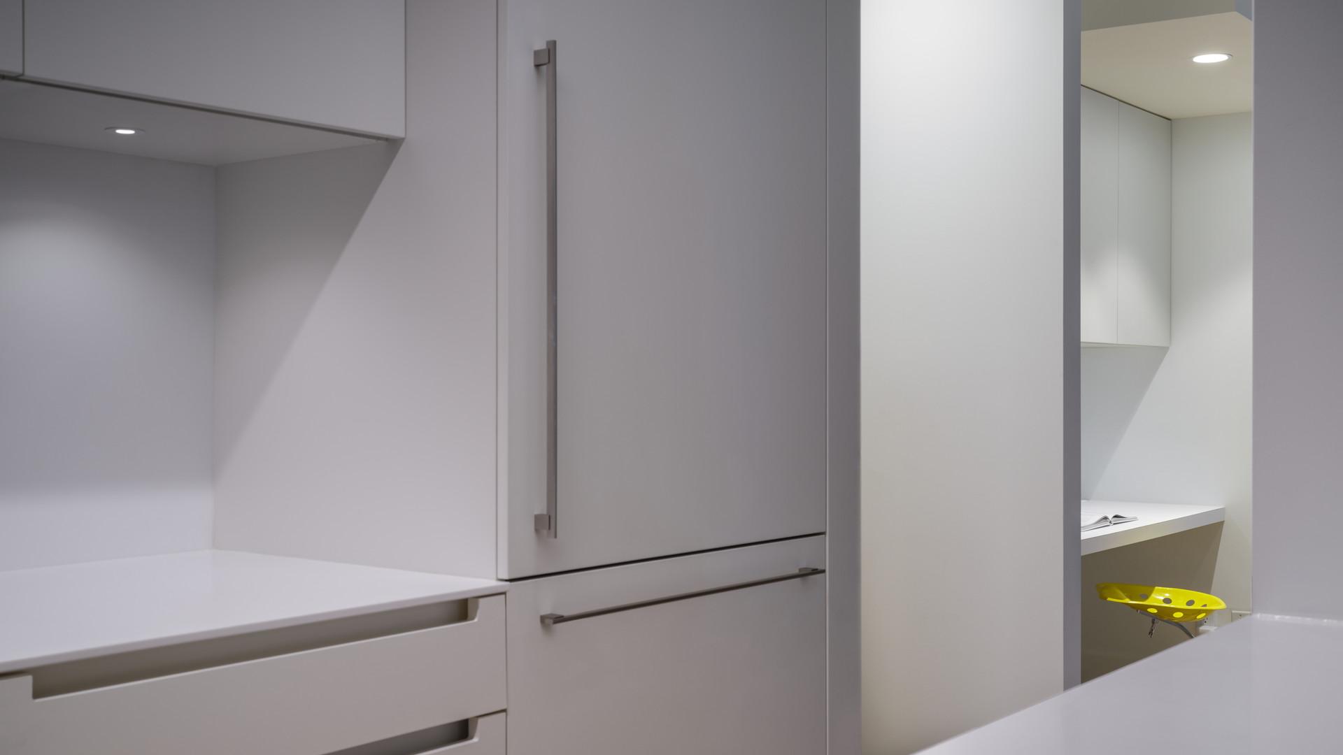 modern kitchen and desk niche by untitled design agency