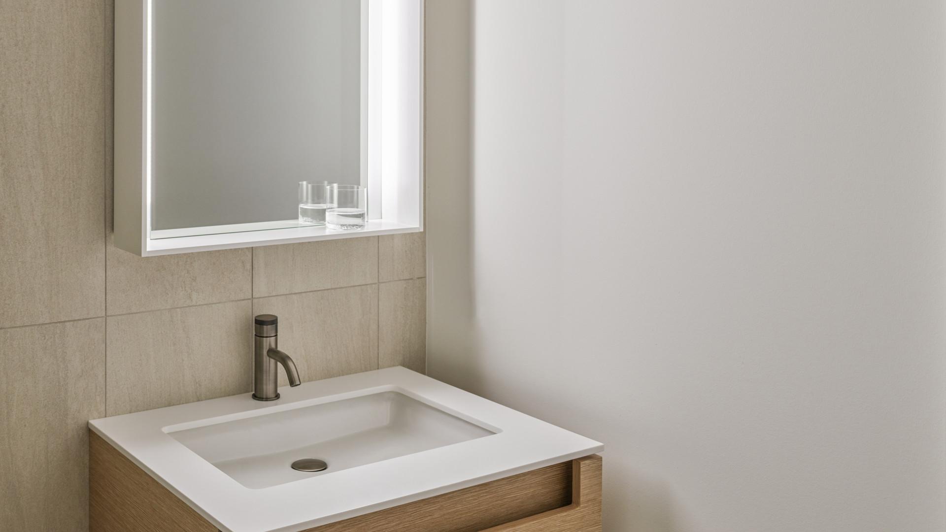 modern bathroom vanity by untitled design agency