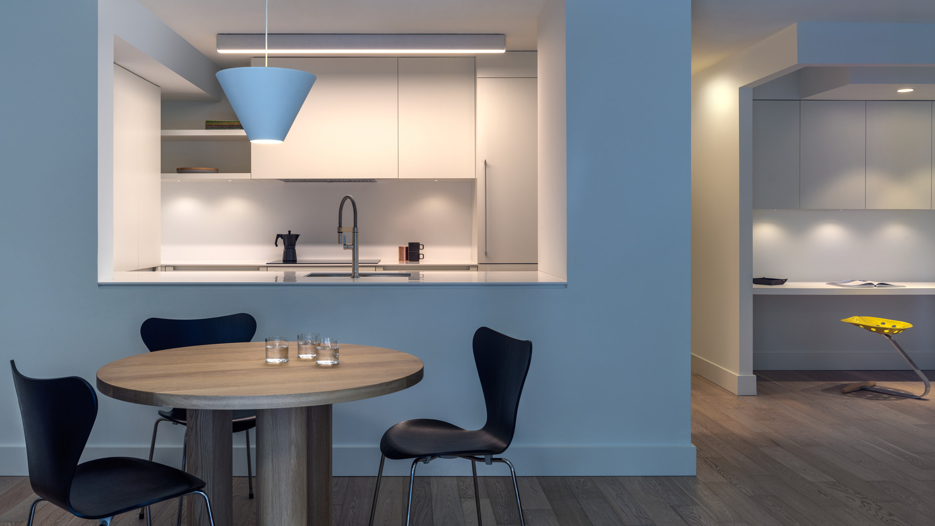 modern kitchen and dining room by untitled design agency