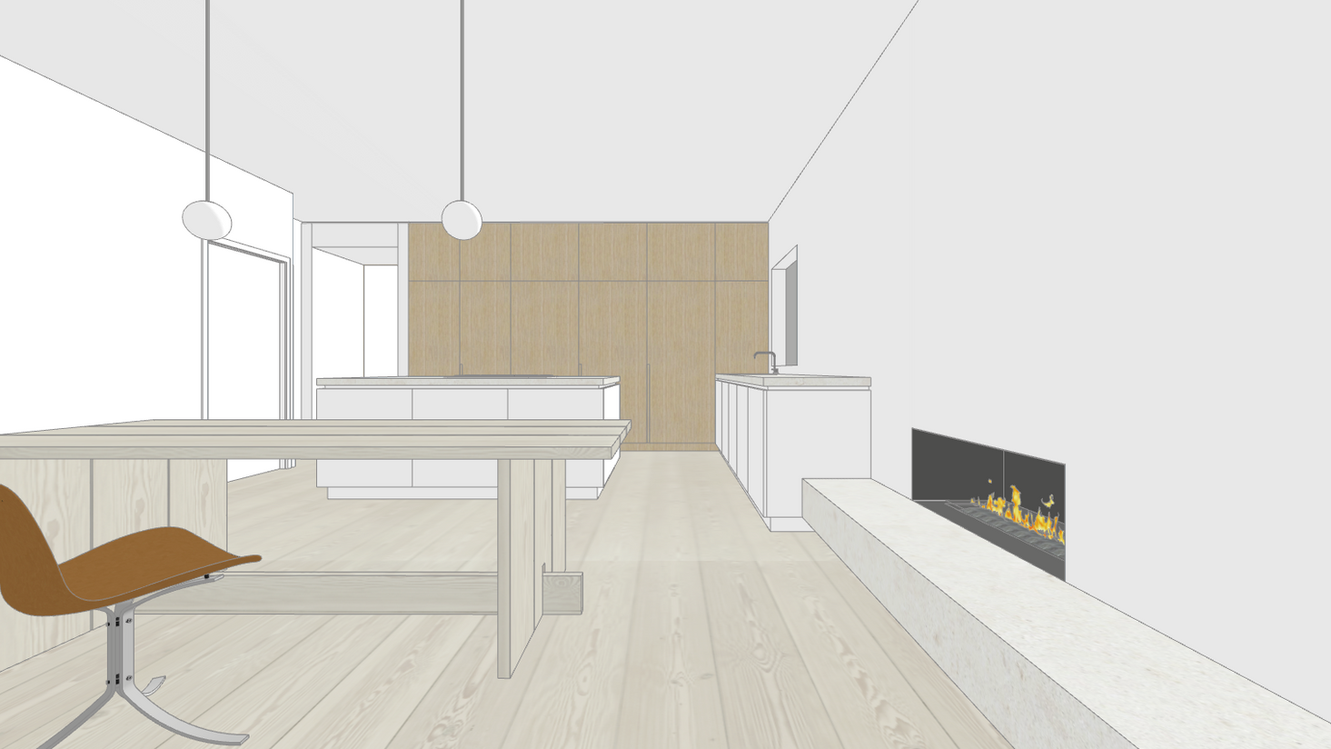 project render with fir floors by untitled design agency