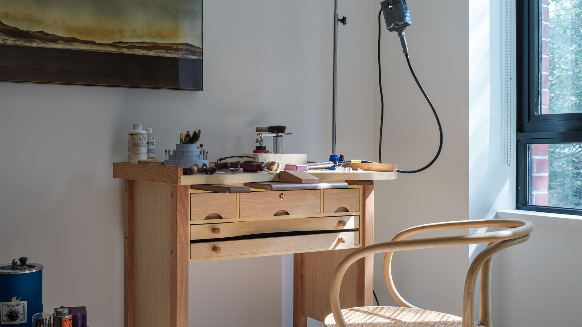 studio workshop space with thonet 209 chair by untitled design agency