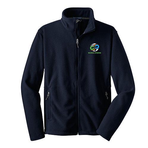 #5 Navy Full Zip Fleece Jacket