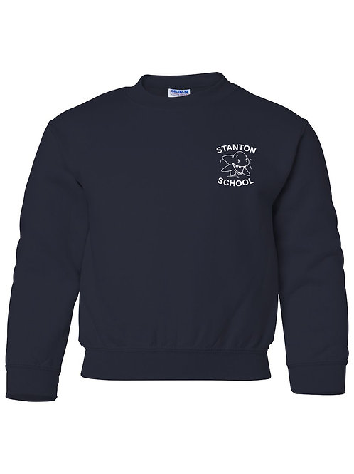 Stanton Youth Navy Crewneck Sweatshirt - 3A