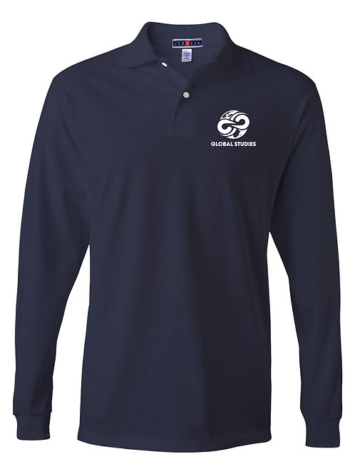#3 Navy L.S. Polo Youth and Adult