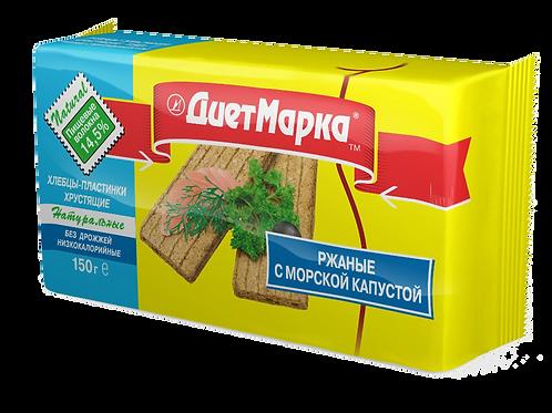 Хлебцы-пластинки РЖАНЫЕ с морской капустой
